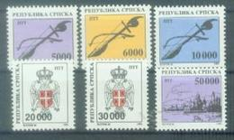 BHRS 1992-12-7 DEFINITIVE, BOSNA AND HERZEGOVINA - R.SRPSKA,  6v, MNH - Bosnie-Herzegovine