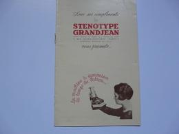 VIEUX PAPIERS - 75 PARIS - PROSPECTUS  : Sténotype GRANJEAN - France