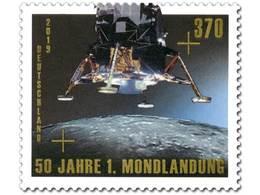 Z07 Germany BRD 2019 Mi 50 Jahre Erste Mondlandung Moon Landing MNH - BRD