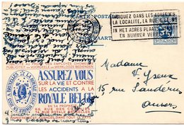 Publibel N° 45 Royale Belge Assurances - Stamped Stationery