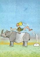 Georges STRIL - Série Illustrateur Nugeron N'H 295 - Fantaisie Tropicale - Rhinocéros - Saute-Mouton - Illustrators & Photographers