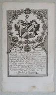 Vignette Héraldique XVIIIème - Lothar Godefrid Henri Baron De GREIFFENCHAU à Volraths - Ex-libris