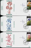 FDC Des N° 2357/9 Floralies Gantoises 1990  Obl. Ransart 03/03/90 - 1985-.. Oiseaux (Buzin)