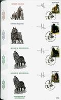 FDC Des N° 2213/16  Races Canines Belges   Obl. Erembodegem 24/05/1986 - 1985-.. Pájaros (Buzin)