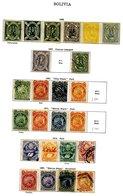 BOLIVIA 1879-1935 Predominantly M Collection Incl. 1867 Condors 5c (3), 10c, 50c & 100c Unused, 1897 Set M, 1909 Centena - Unclassified