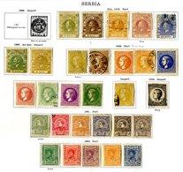 SERBIA 1866-1918 M & U Collection Incl. 1866-68 Prince Michael 10p U, 20p M, 40p U, 1869-80 Values To 50p M Or U, 1880 N - Stamps