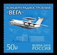Russia 2019 RUSIA RUSSIE RUSSLAND Vega Radio Engineering Corporation. Aviation. Aircraft A-50 1 V MNH ** - 1992-.... Föderation