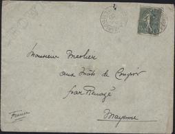 CAD Maritime Bordeaux à Loango LL N°1 6 Avril 1905 YT 130 Semeuse Lignée Dos Cachet Arrivée - Marcophilie (Lettres)