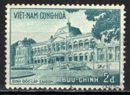 VIETNAM DEL SUD - 1958 - PALAZZO DELL'INDIPENDENZA A SAIGON - USATO - Vietnam