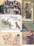 LOT DE 460 CARTES FANTAISIES DIVERS AVEC PETIT ILLUSTRATEUR  BON LOT A VOIR - Postcards