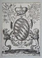 Vignette Héraldique XVIIIème - BAYERN - Ex-libris