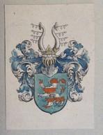 Vignette Héraldique XVIIème - Aux Coloris - Hesse - Ex-libris