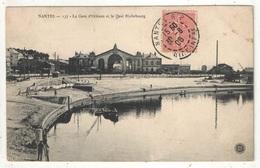44 - NANTES - La Gare D'Orléans Et Le Quai Richebourg - 1906 - Nantes