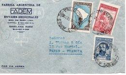 LSC 1939 - Fabrica Argentina De FADEM Envases Medicinales CHICLANA - Cachet Buenos Aires Sur YT 373 & 376 & 386 - Covers & Documents