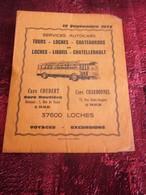 1973 SERVICE AUTOCARS COUDERT/CHARBONNEL-TOURS-LOCHES-CHATEAUROUX-LIGUEIL-CHATELLERAULT--Plans Réseaux-Schémas De Ligne - Europe