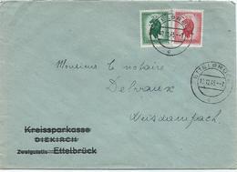 Kreissparkasse Diekirch / Zweigstelle Ettelbruck - Stempel Ettelbrück 12-12-1945 Nach Weiswampach - Lettres & Documents