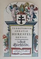 Vignette Héraldique XVIIème - Aux Coloris - Hirschfeld - Ex-libris