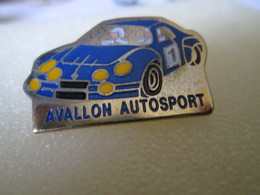PIN'S   ALPINE RENAULT   A 110  RALLYE   AVALLON  AUTOSPORT - Rallye