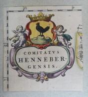Vignette Héraldique XVIIème - Aux Coloris - Henneberg - Ex-libris