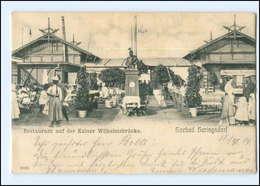XX003933-174./ Heringsdorf Restaurant Auf D. Kaiser Wilhelmsbrücke 1904 AK - Deutschland