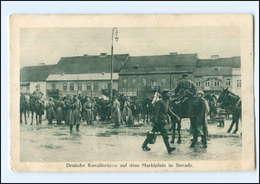 U4794/ Marktplatz In Sieradz  Deutsche Kavalleristen  Polen AK 1915 - Polen