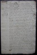 15 Juin 1734 Déclaration Des Ferme Et Terres De Mermont  (Crépy En Valois) à La Requête De Me Noël François Julien Nérat - Manuscripts