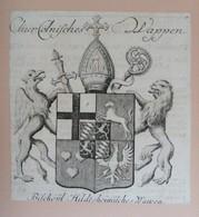 Vignette Héraldique XVIIIème - S.E. COLOGNE - Ex-libris