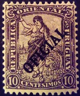 Uruguay 1907 Femme Woman Service Surchargé Overprinted OFICIAL Yvert S95 * MH - Uruguay