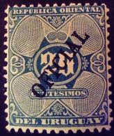 Uruguay 1907 Service Surchargé Overprinted OFICIAL Yvert S96 * MH - Uruguay