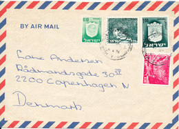 Israel Air Mail Cover Sent To Denmark 4-4-1976 - Airmail