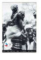 Cpm Auto-collant -  MALI - Femme Bébé SECOURS POPULAIRE Construction Maternité MARENA Seine St Denis Côet D'OR - Mali