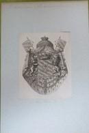 Vignette Héraldique XVIIIème - BAVIERE : MAXIMILIEN - Ex-libris