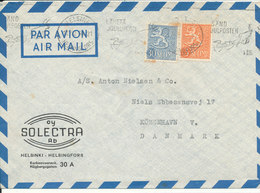 Finland Air Mail Cover Sent To Denmark 12-12-1958 - Airmail