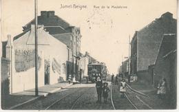 Jumet-Heigne - Rue De La Madeleine - Animé - Transport - 1910 - Edit. Pierre Hesdain, Jumet - Charleroi