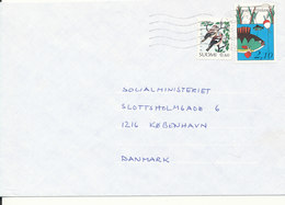 Finland Cover Sent To Denmark 1991 - Airmail