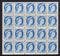Canada 1954 Queen Elizabeth 5c Block Of 20 MNH - Unused Stamps