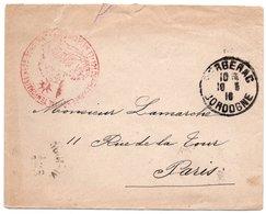 LSC 1916 - Cachet 12è Corps D'Armée - Hopital Temporaire N°25 BERGERAC  - Cachet BERGERAC (Dordogne) - Marcophilie (Lettres)