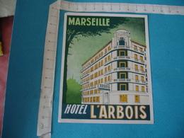 Hotel L Arbois Marseille Etiquette Hotel Bagage Luggage Vintage - Etiquettes D'hotels