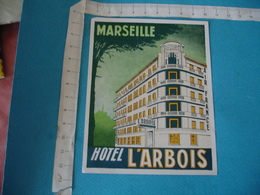 Hotel L Arbois Marseille Etiquette Hotel Bagage Luggage Vintage - Hotel Labels
