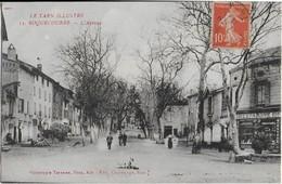 ROQUECOURBE ( Tarn Illustré ) : L'Avenue Et Le Commerce L'Epargne (1911) - Roquecourbe