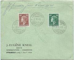 Ettelbruck - J.-Eugène Knell, Bois - Stempel FDC 22-12-1949 - Lettres & Documents