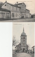 2 CPA : LA NEUVEVILLE SOUS CHÂTENOIS (88) ÉGLISE (COULEUR) ,GROUPE ENFANTS MAISON COMMUNE - France