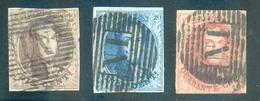 N°10/12A - Médaillons 10, 20 Et 40 Centimes Avec Belles Obl. Ambulant N.I. - 14243 - 1858-1862 Medaillen (9/12)