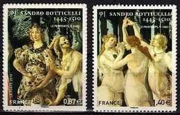 ADH 52 - FRANCE Adhésifs N° 492+509 Neufs** Tableaux De Botticelli - France