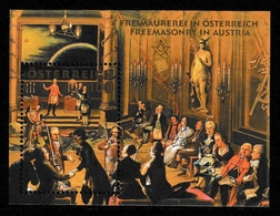 AUSTRIA 2006 Freemasonry In Austria: Miniature Sheet UM/MNH - 1945-.... 2ème République