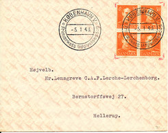 Denmark FDC 5-1-1943 Chr.X 30 öre Orange In Block Of 4 With Address (See The Address) - FDC