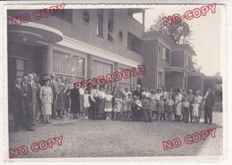Au Plus Rapide Beau Format 13 Par 18 Cm Boulleville Eure 17 Août 1953 Maison De Repos Pour Aveugles - Geïdentificeerde Personen