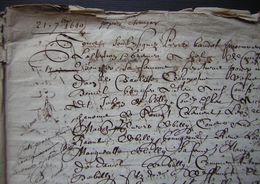 1640 Ferme De Mermont Crépy Partage Entre La Famille Charmoluë De Billy Etc Devant Pierre Benoît Procureur  à Compiègne - Manuscripts