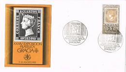 33194. Carta Exposicion Filatelica GRACIA, Barcelona 1983 - 1931-Hoy: 2ª República - ... Juan Carlos I