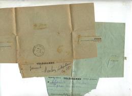Lot 5 Telegramme Cachet à Voir - Marcophilie (Lettres)